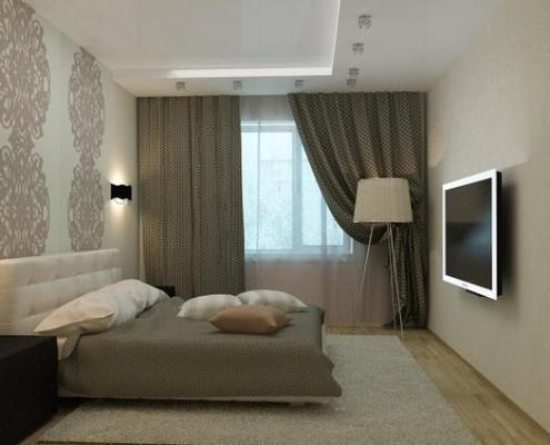 Дизайн для спальни в хрущёвке
