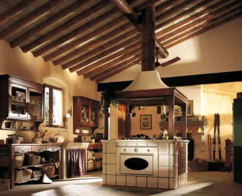Кухонный интерьер в кантри