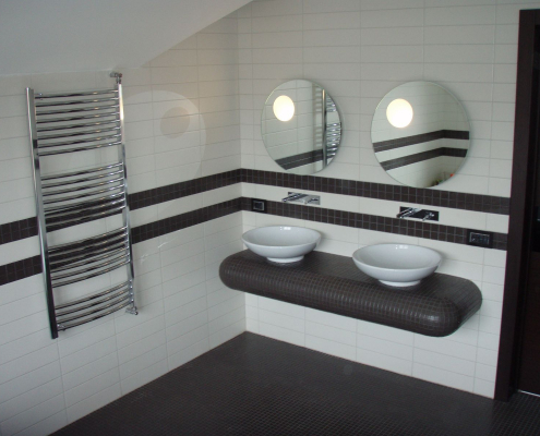 Черно-белый дизайн интерьера